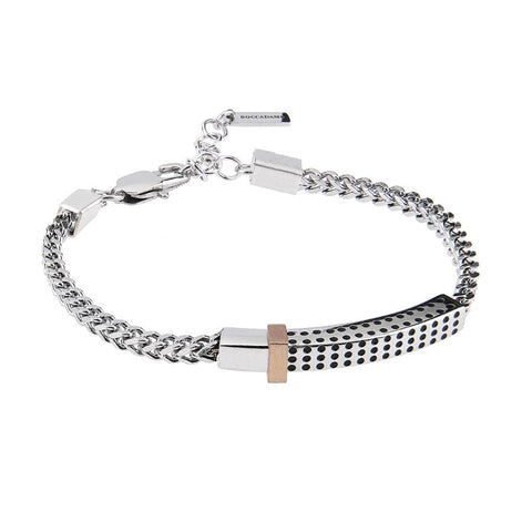 Related product : Steel Bracelet with links intertwined and central plate with holes