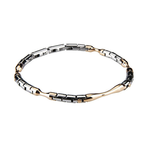 Related product : The semirigid Bracelet steel white and rosé