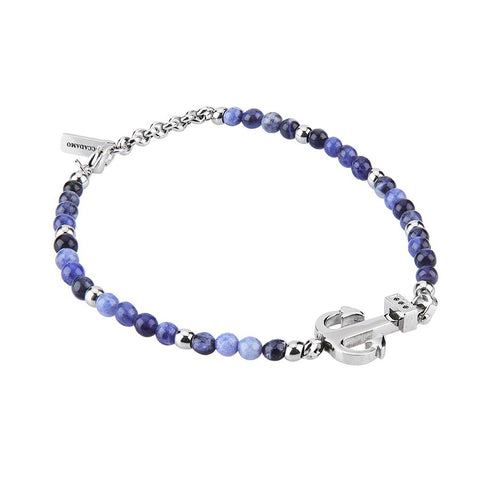 Related product : Bracelet with lapis lazuli blue, still and zircons