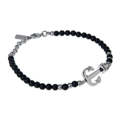 Related product : Bracelet with Obsidian Black, still and zircons