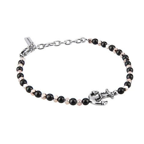 Related product : Bracelet with Obsidian Black, rose elements and still