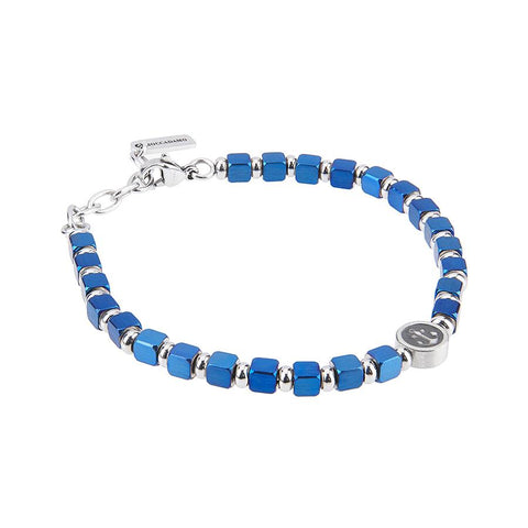 Related product : Bracelet with cubes in PVD blue and circular central with still