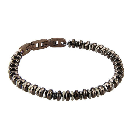 Related product : Steel Bracelet with t-shirts in Pvd Brown