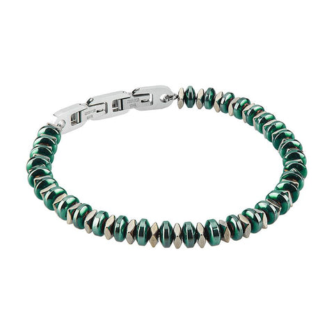 Related product : Steel Bracelet with t-shirts in Pvd Green