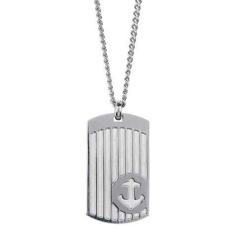 Related product : Necklace with steel plate and still in relief