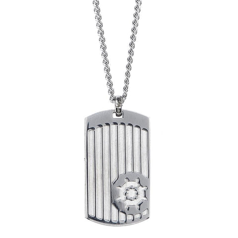 Related product : Necklace with steel plate and tiller in relief