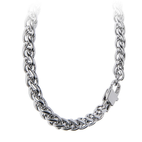 Related product : Necklace large double braided mesh