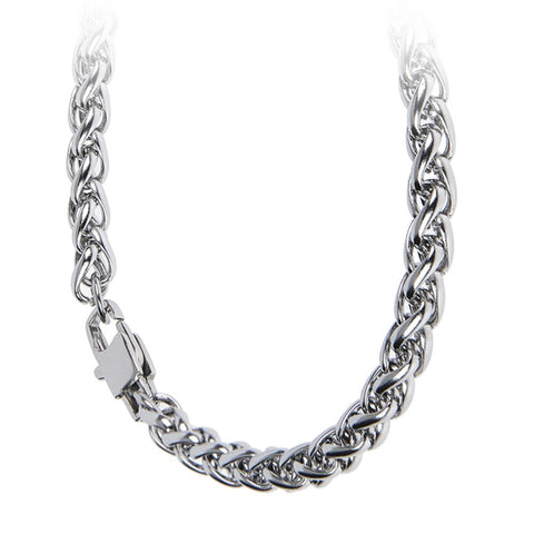Related product : Necklace medium a double braided mesh