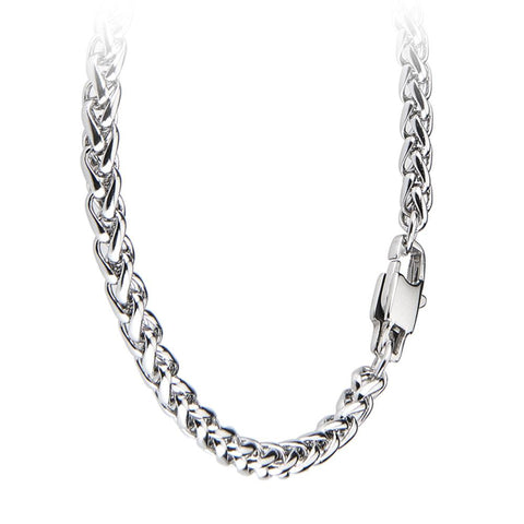 Related product : Necklace small double braided mesh