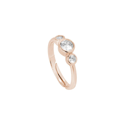 Related product : Plated ring pink gold with zircons degradè Diamond Cut