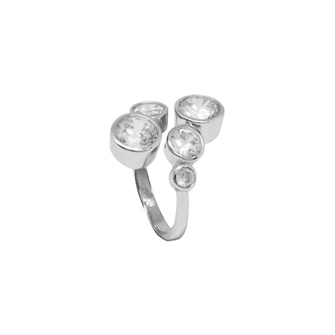 Related product : Open Ring with zircons diamond cut