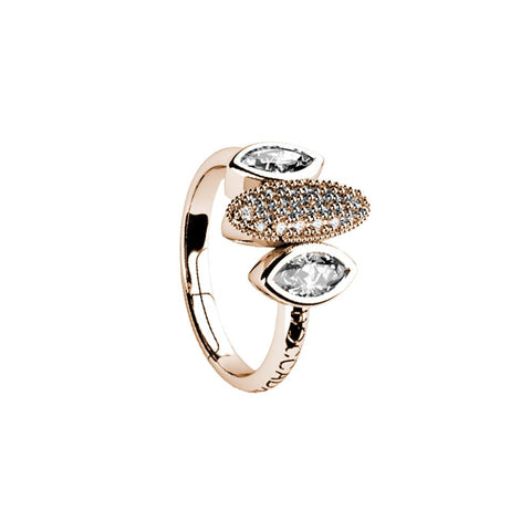 Related product : Plated ring pink gold with zircons