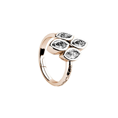 Related product : Plated ring pink gold with zircons to shuttles brilliant cut