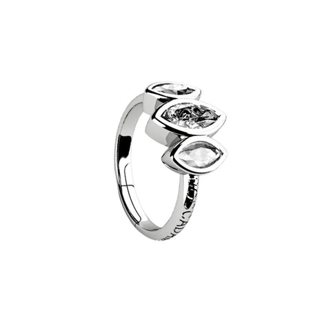 Related product : Ring with decoration of zircons to shuttles brilliant cut