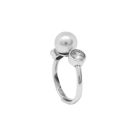 Related product : Ring with zircon and Swarovski pearl
