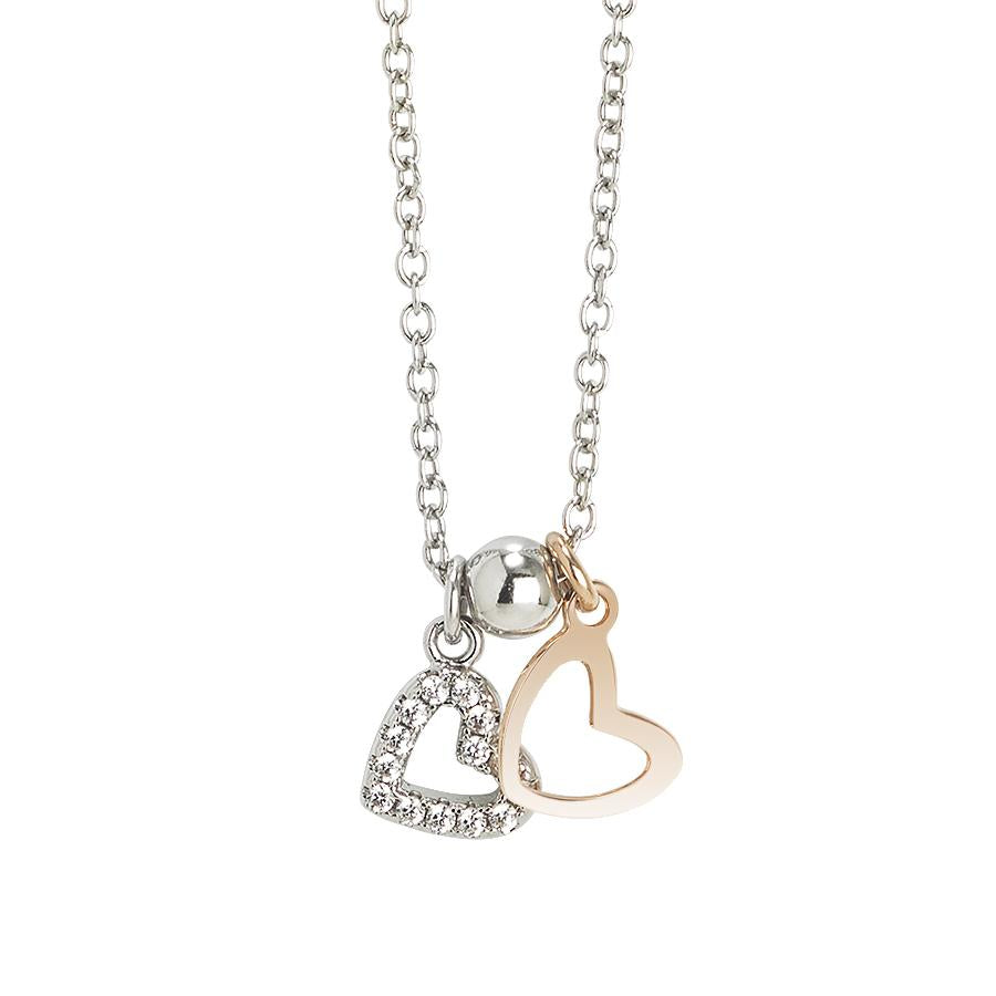 heart shaped silver products pendant