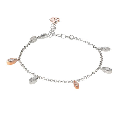 Related product : Bracelet with pendants bicolor of zircons brilliant cut