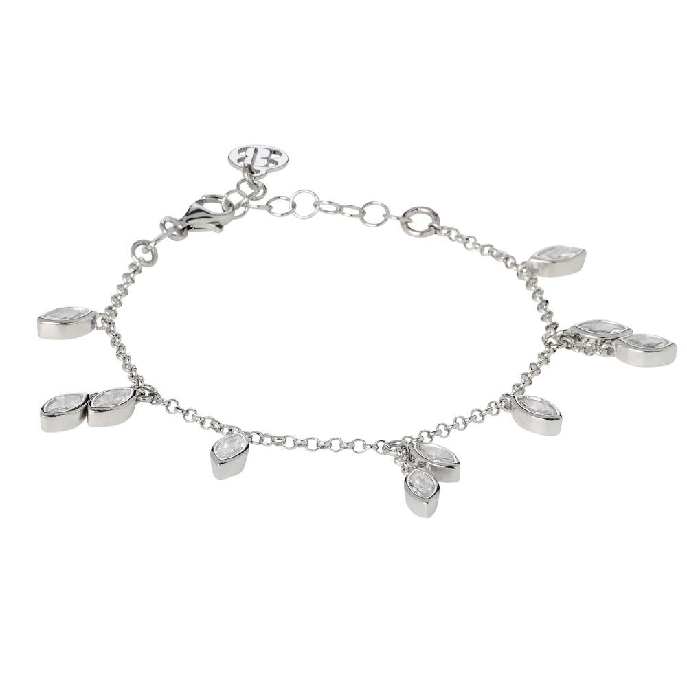 Bracelet with zircons to shuttles brilliant cut