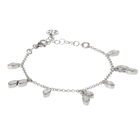 Related product : Bracelet with zircons to shuttles brilliant cut