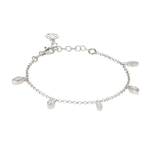 Related product : Bracelet with pendants of zircons to shuttles brilliant cut