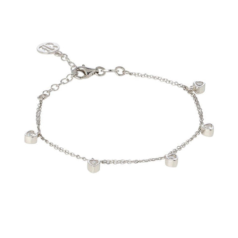 Related product : Bracelet with zircons to heart