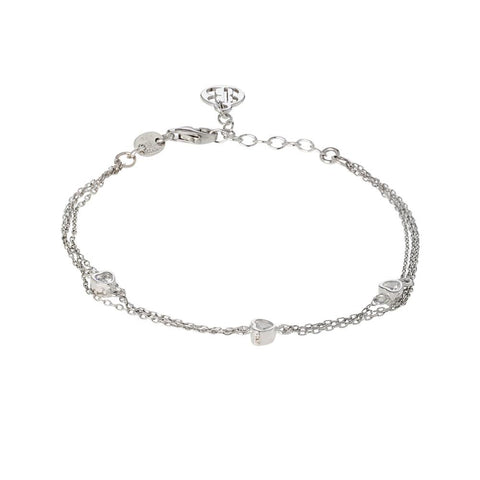 Related product : Cuff double wire with zircons to heart