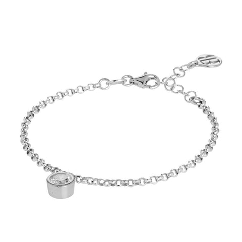 Related product : Bracelet with zircon diamond cut pendant