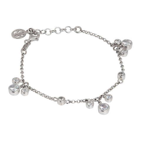Related product : Bracelet with loops of zircons diamond cut