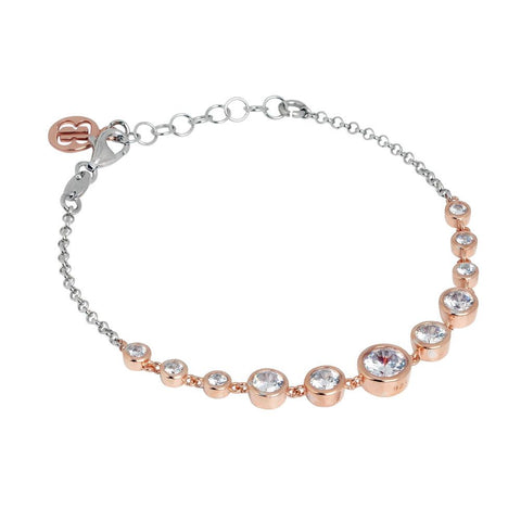 Related product : Bracelet in silver bicolor with zircons degradà central¨