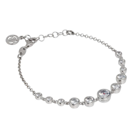 Related product : Bracelet in silver rodiatos with zircons degradà central¨