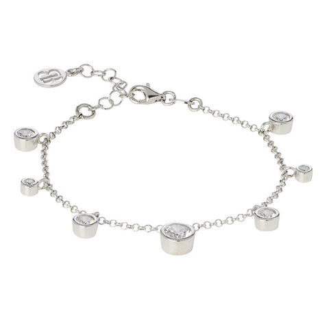 Related product : Bracelet with pendants of zircons diamond cut