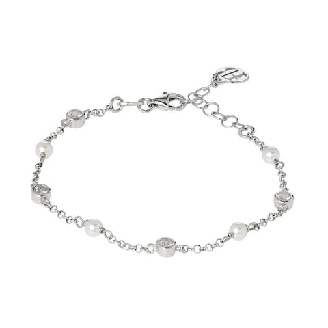 Related product : Bracelet with loops of zircons and Swarovski beads