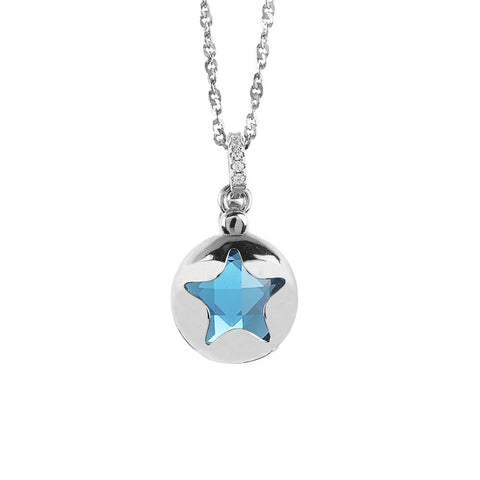 Related product : Necklace with retractable star and crystal blue