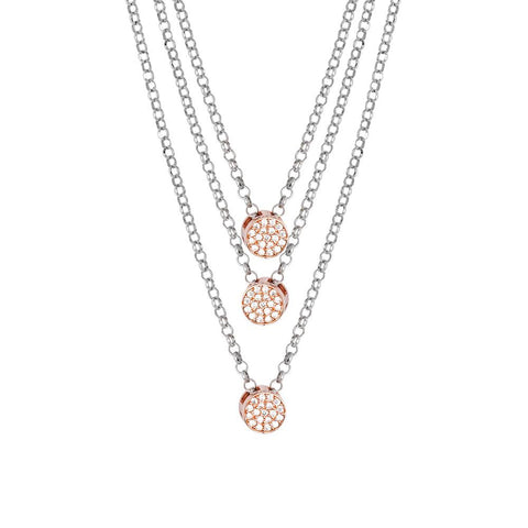 Related product : Multi-Strand necklace bicolor with zircons