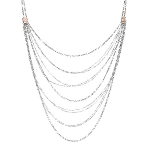Related product : Multi-Strand necklace with zircons