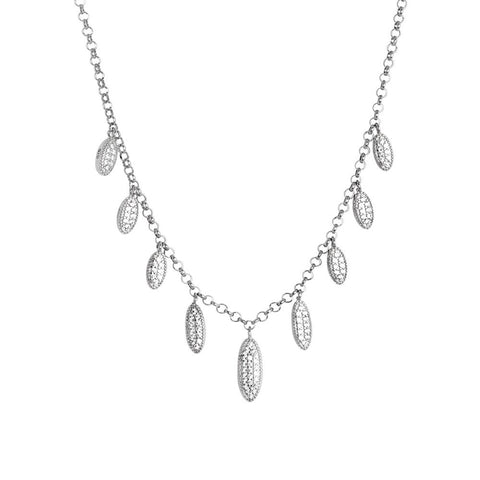 Related product : Necklace with pavè of zircons