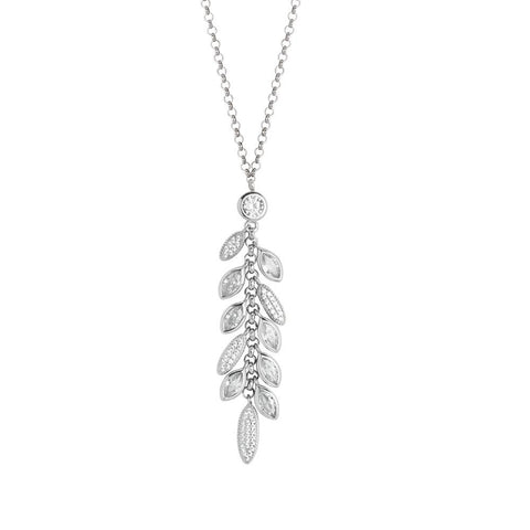 Related product : Necklace in silver pendant with a bunch of zircons