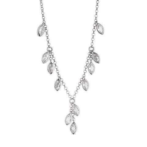 Related product : Necklace with zircons to shuttles brilliant cut