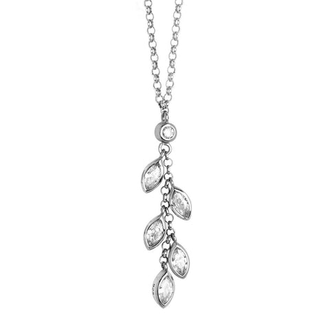 Related product : Necklace with pendent zircons to shuttles brilliant cut