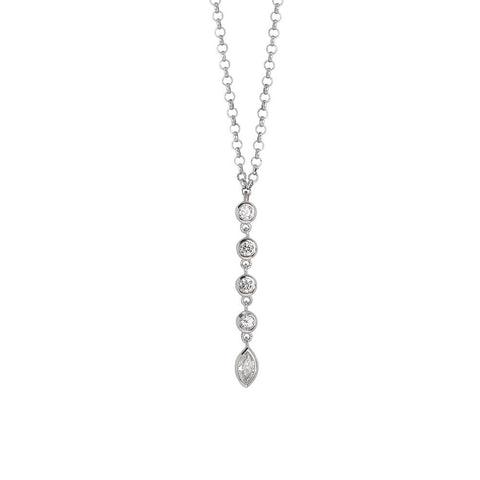 Related product : Necklace with a pendant of zircons diamond cut