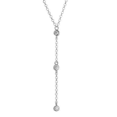 Related product : Cravattino necklace with zircons diamond cut