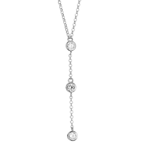 Related product : Necklace with cravattino of zircons diamond cut