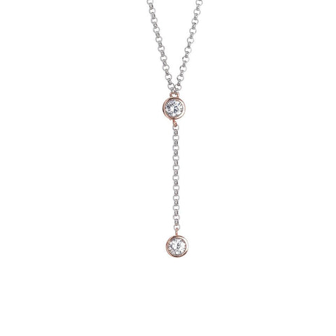 Related product : Cravattino necklace with zircon initial and final gold plated pink