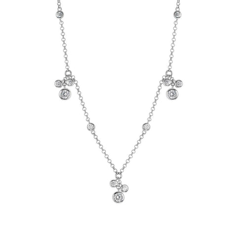 Related product : Necklace in silver with sprigs pendant zircons