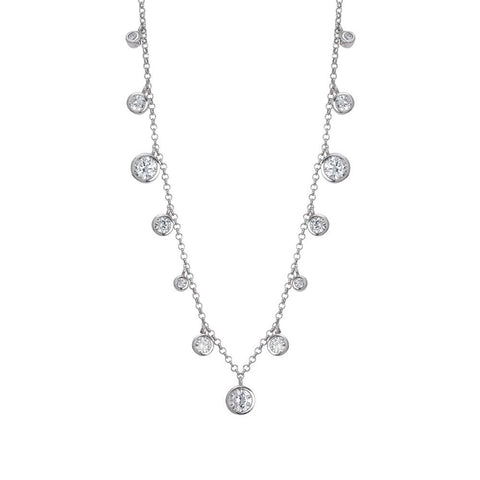 Related product : Necklace with pendant degradè of zircons diamond cut