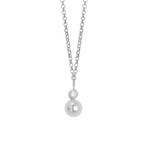 Related product : Necklace with a pendant of zircon and Swarovski pearl