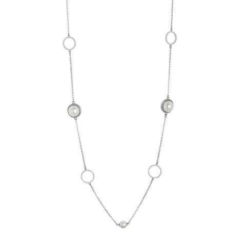 Related product : Long necklace with Swarovski beads and zircons