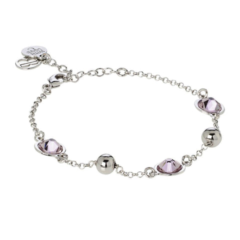 Bracelet with Swarovski crystals ametist light
