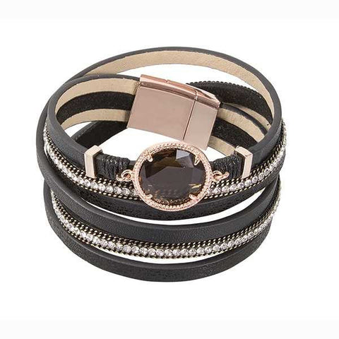 Multiwire Bracelet in brown leather