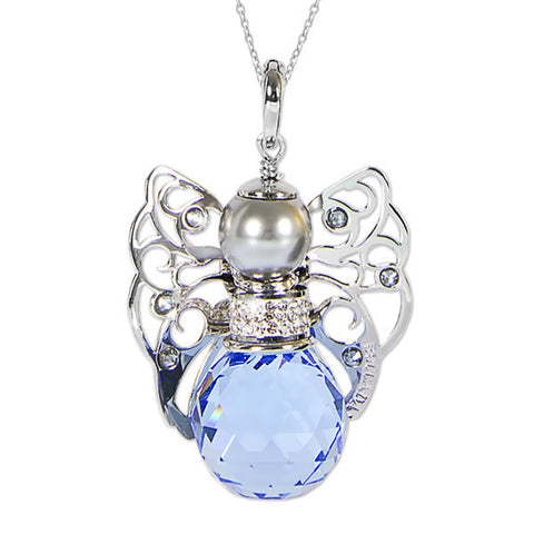 Necklace with Angelo in Swarovski sapphire